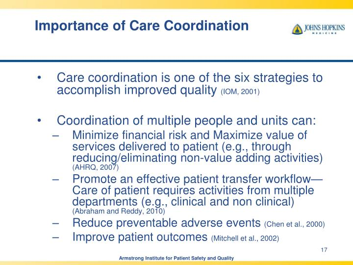 Importance of Care Coordination