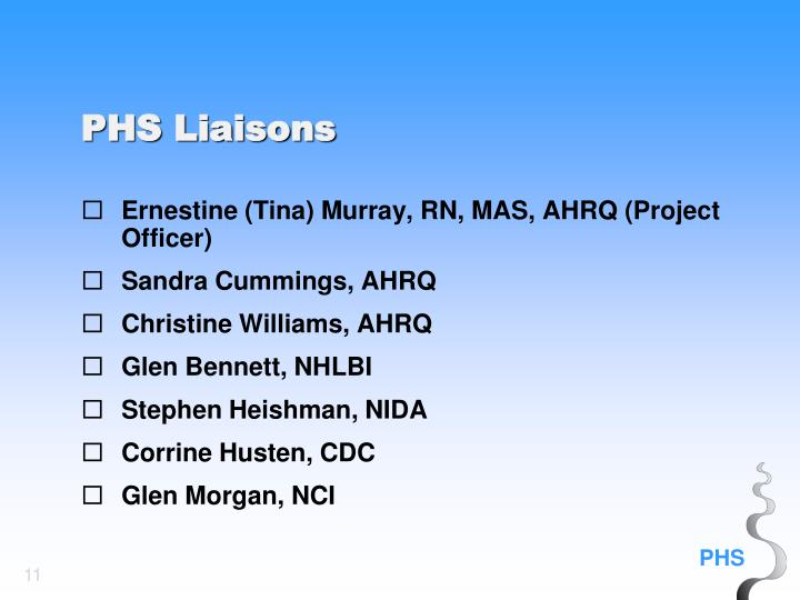 Ernestine (Tina) Murray, RN, MAS, AHRQ (Project Officer)