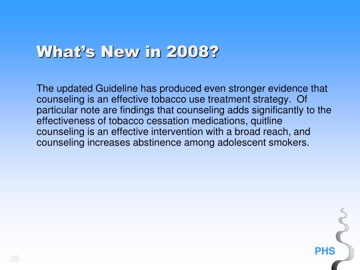 What's New in 2008?