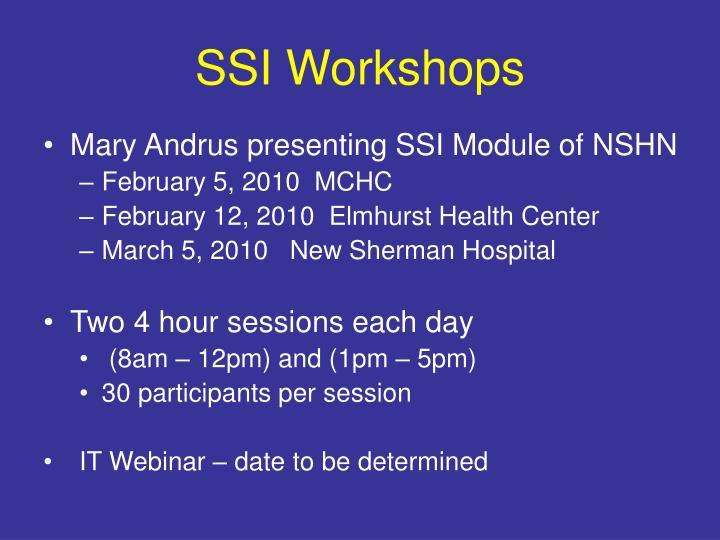 SSI Workshops