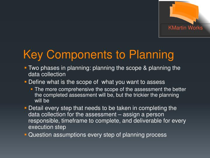 Two phases in planning: planning the scope & planning the data collection