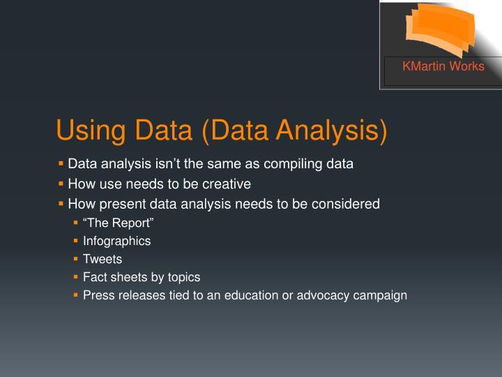 Data analysis isn't the same as compiling data