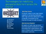 technologies for mobilizing geospatial data from across the internet
