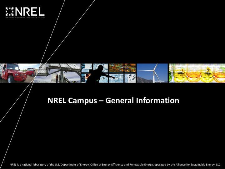 NREL Campus – General Information
