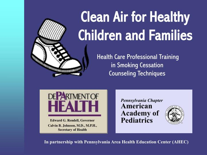 clean air for healthy children and families n.