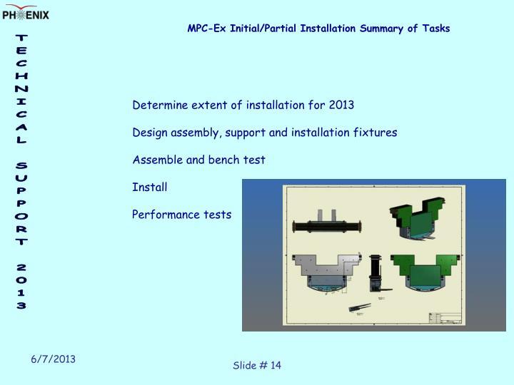 MPC-Ex Initial/Partial Installation Summary of Tasks