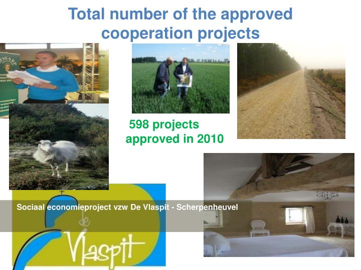 Total number of the approved  cooperation projects