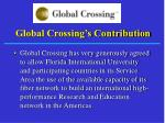 global crossing s contribution