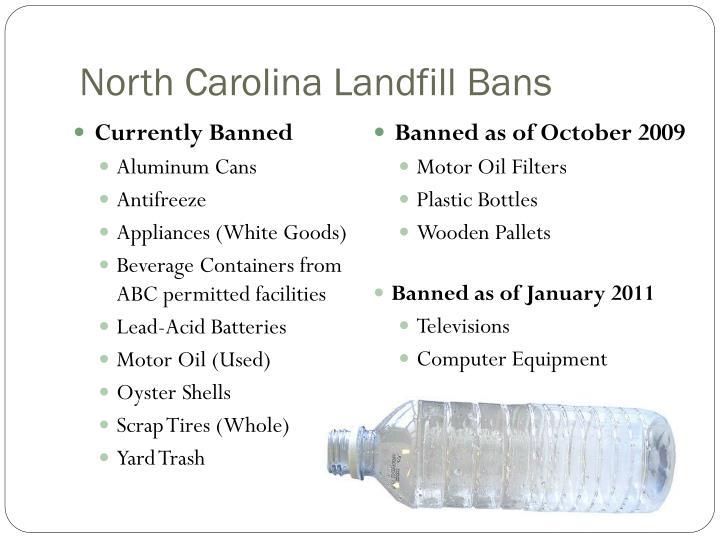 North Carolina Landfill Bans
