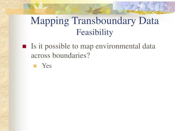 Mapping Transboundary Data