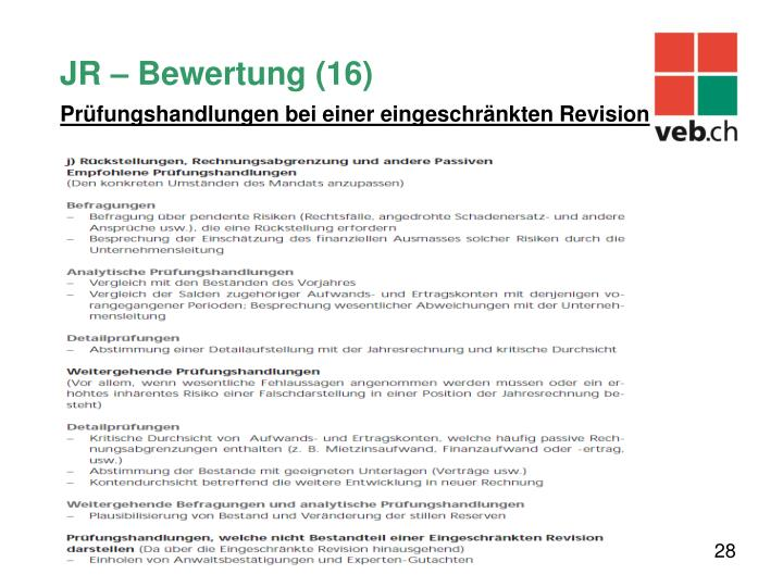 JR – Bewertung (
