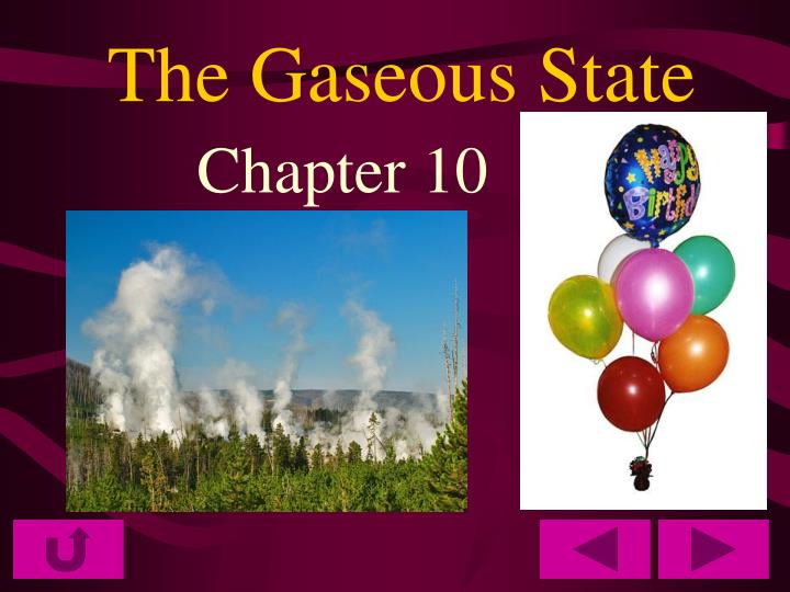 the gaseous state n.