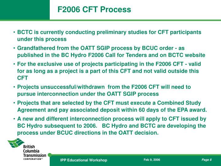 F2006 CFT Process