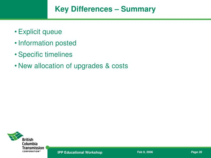 Key Differences – Summary