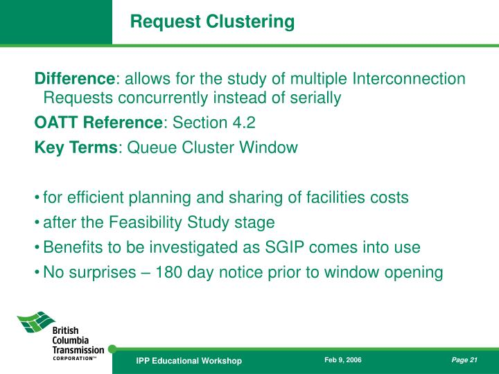 Request Clustering