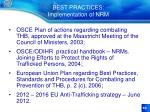 best practices implementation of nrm
