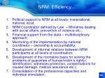 nrm efficiency