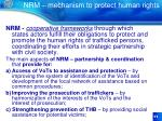 nrm mechanism to protect human rights
