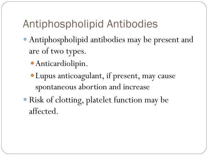 Antiphospholipid Antibodies