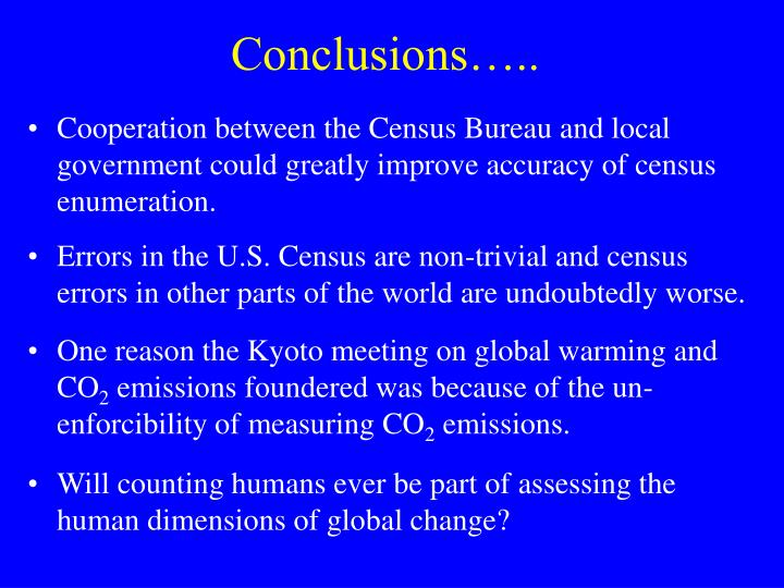 Conclusions…..