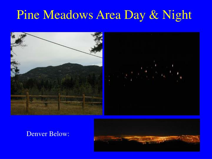 Pine Meadows Area Day & Night