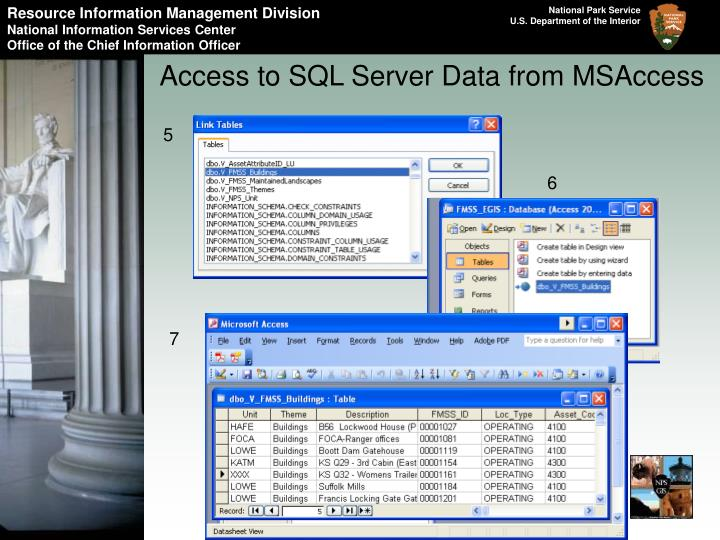 Access to SQL Server Data from MSAccess
