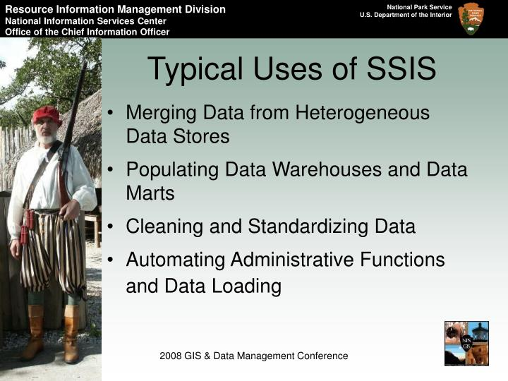 Typical Uses of SSIS