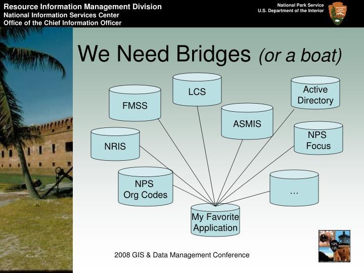 We Need Bridges