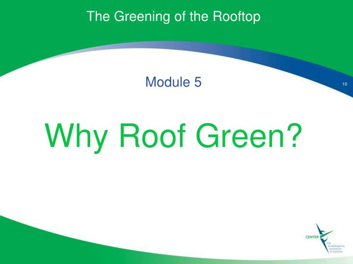 The Greening of the Rooftop