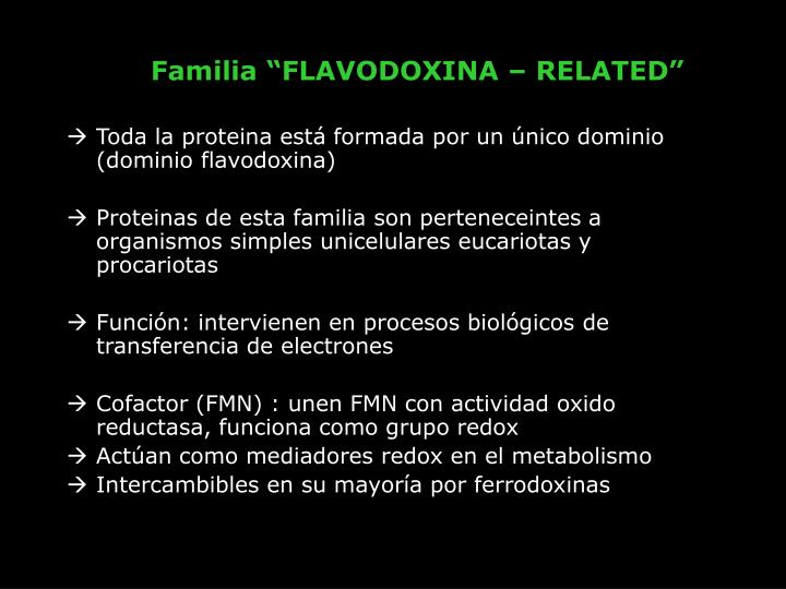 "Familia ""FLAVODOXINA – RELATED"""
