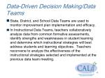 data driven decision making data teams1