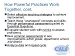 how powerful practices work together cont