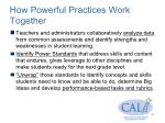 how powerful practices work together