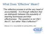 what does effective mean
