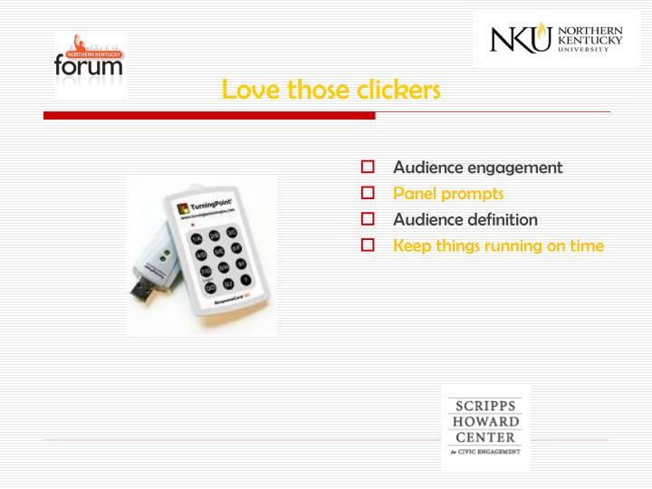 Love those clickers