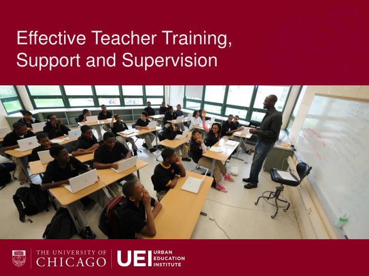 Effective Teacher Training,