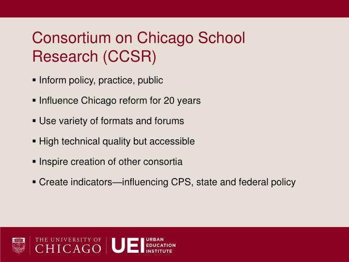 Consortium on Chicago School