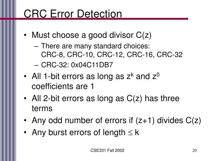 CRC Error Detection