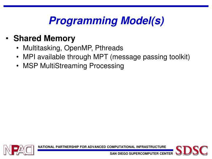 Programming Model(s)