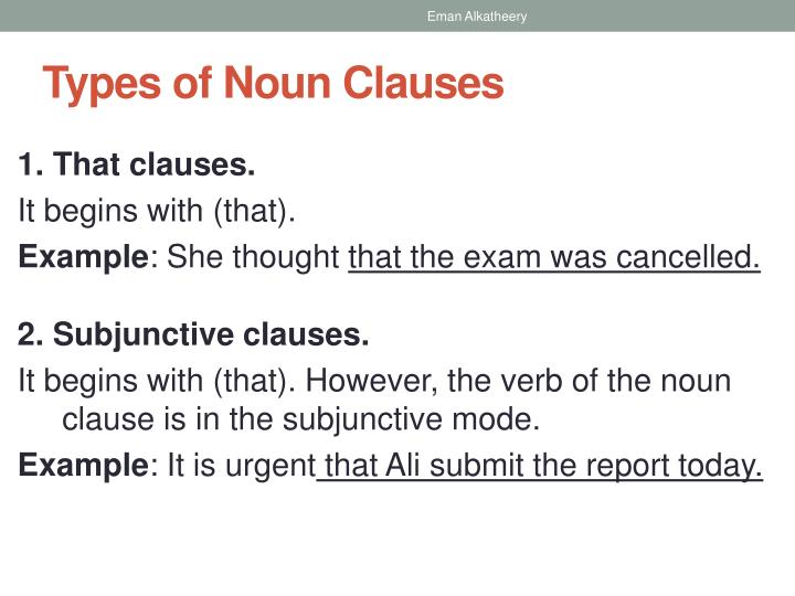 explain noun clause