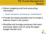 fm funds management module