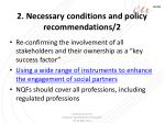 2 necessary conditions and policy recommendations 2