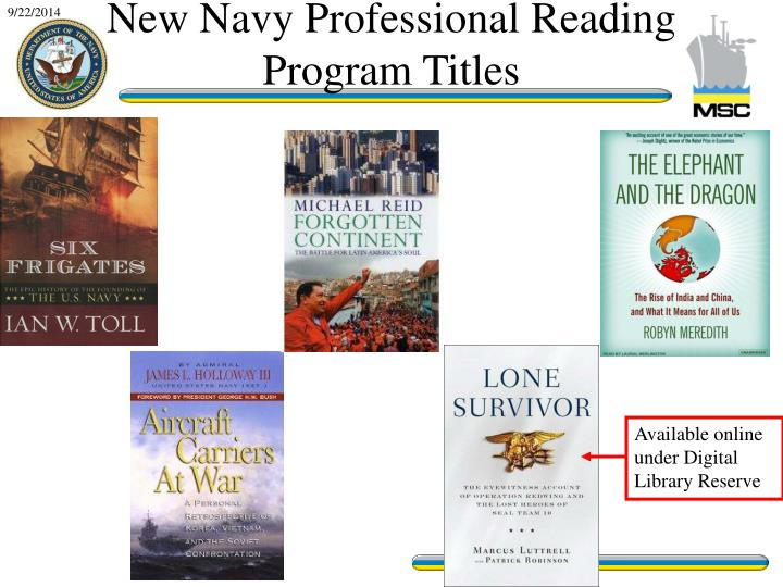 Available online under Digital Library Reserve