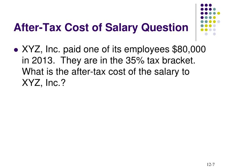 After-Tax Cost of Salary Question