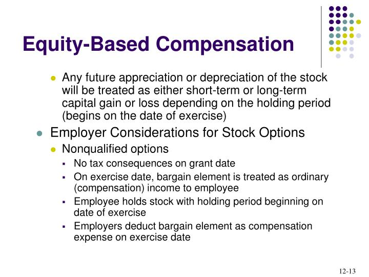 Any future appreciation or depreciation of the stock will be treated as either short-term or long-term capital gain or loss depending on the holding period (begins on the date of exercise)
