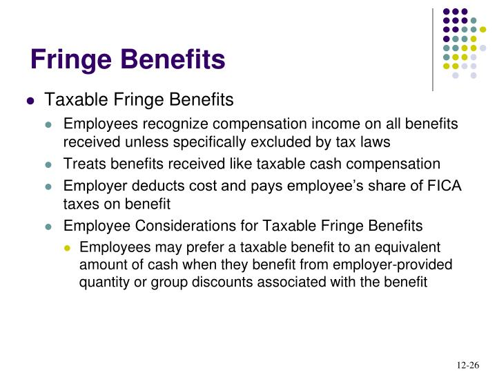 Taxable Fringe Benefits