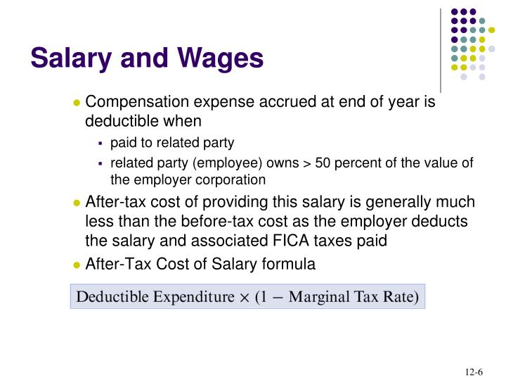 Compensation expense accrued at end of year is deductible when