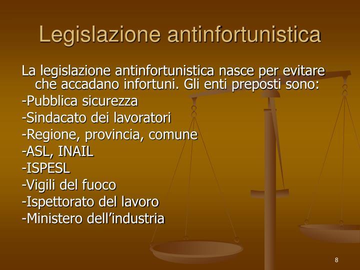Legislazione antinfortunistica