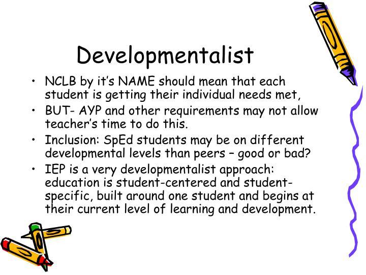 Developmentalist