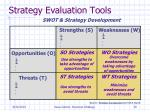 strategy evaluation tools